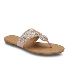 Olivia Miller Happily Ever After Rhinestone Sandals