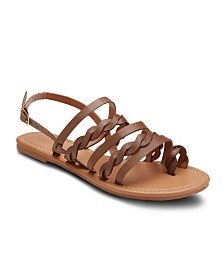 Olivia Miller Follow Me Twisted Strap Sandals