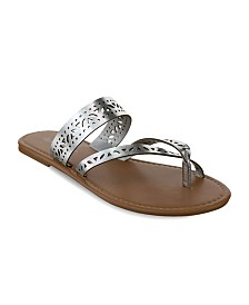 Olivia Miller Augustine Laser Cut Sandals