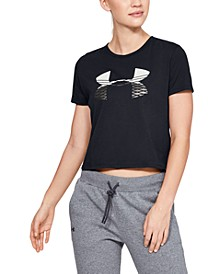 Printed-Logo Cropped T-Shirt