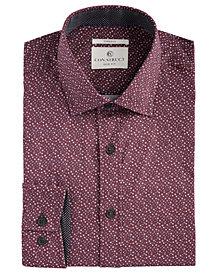 Con.Struct Men's Slim-Fit Stretch Circle Pattern Dress Shirt