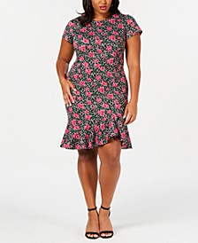 Trendy Plus Size Flounce-Hem Sheath Dress