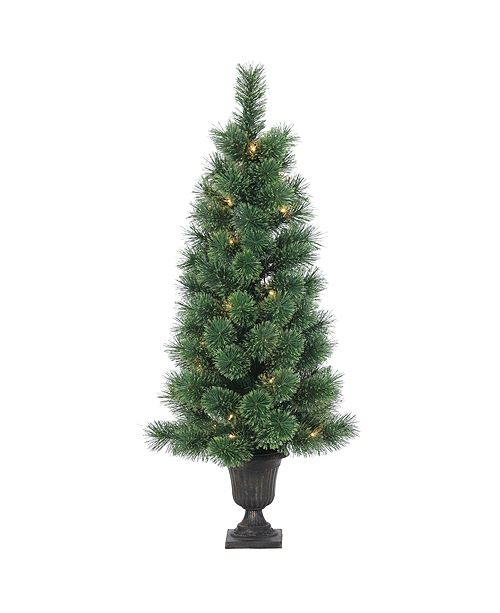 Sterling 3.5Ft. Potted Deluxe Hard Needle Cashmere Pine with 50 Clear Lights
