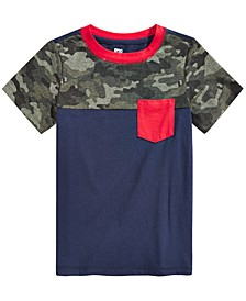 Big Boys Camo Colorblocked Pocket T-Shirt, Created for Macy's