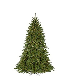 7.5Ft. Pre-Lit Crystal Pine with Instant Glow Power Pole and 1200 Clear Lights