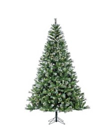 Sterling 7.5-Foot High Pre-Lit Mixed Needle Belmont Fir with White Tips and Warm White LED Lights