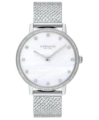 코치 여성 손목 시계 COACH Womens Audrey Stainless Steel Mesh Bracelet Watch 36mm,Gold