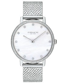 COACH Women's Audrey Stainless Steel Mesh Bracelet Watch 36mm