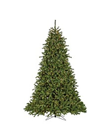 9Ft. Pre-Lit Crystal Pine with Instant Glow Power Pole and 1600 Clear Lights