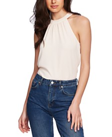 1.STATE Gathered Halter Blouse