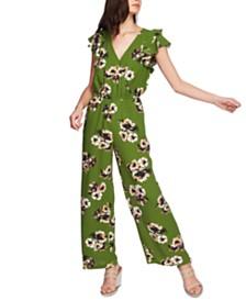 1.STATE Floral Flutter Sleeve Jumpsuit
