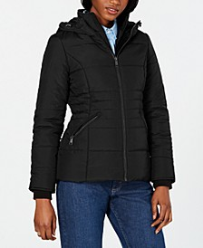 Juniors' Hooded Puffer Coat