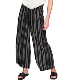 1.STATE Extra Wide Leg Striped Pants