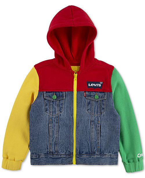 Levi's Toddler Boys Crayola Collection Colorblocked Hooded Trucker Jacket