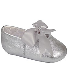Baby Girl Lambskin Ballet with Ribbon Tie
