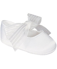 Baby Deer Baby Girl Shantung Ballet Skimmer with Sheer Ribbon Tie