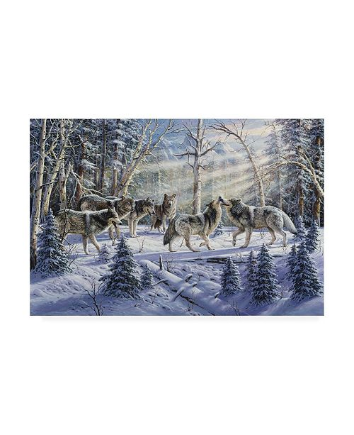 "Trademark Global R W Hedge Kindred Spirits Wolves Canvas Art - 36.5"" x 48"""
