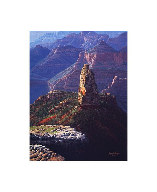 """Trademark Global R W Hedge The Guardian Canyon Canvas Art - 19.5"""" x 26"""""""