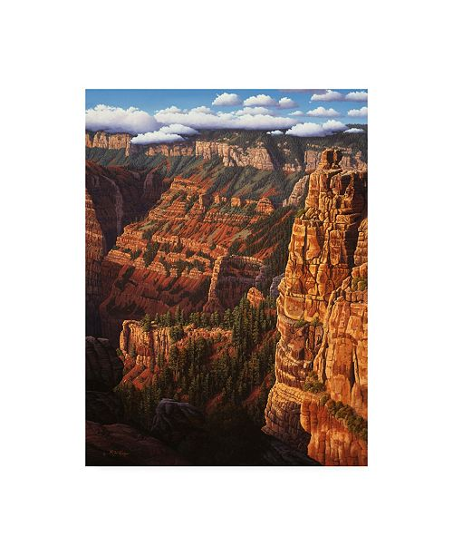 "Trademark Global R W Hedge World of Wonders Canyon Canvas Art - 19.5"" x 26"""