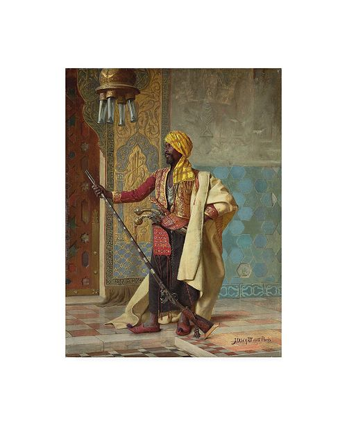 "Trademark Global Jean Discart The Harem Guard Canvas Art - 15.5"" x 21"""