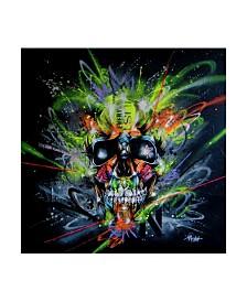 "Taka Sudo Neon Skull Canvas Art - 19.5"" x 26"""