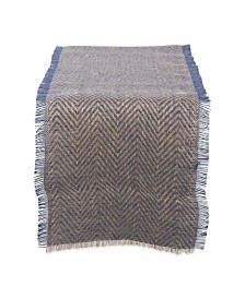 "Design Imports Burlap Table Runner 14"" x 108"""