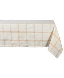 "Lurex Plaid Tablecloth 60"" x 120"