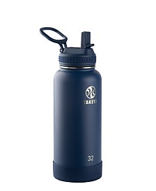 Takeya Actives 32 oz Insulated Stainless Steel Water Bottle with Straw Lid