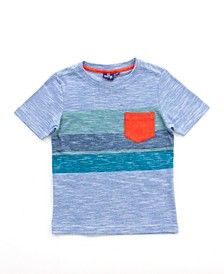 Little and Big Boys Striped Tee