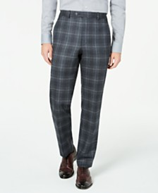 Lauren Ralph Lauren Men's Classic-Fit UltraFlex Stretch Charcoal Plaid Suit Separate Pants