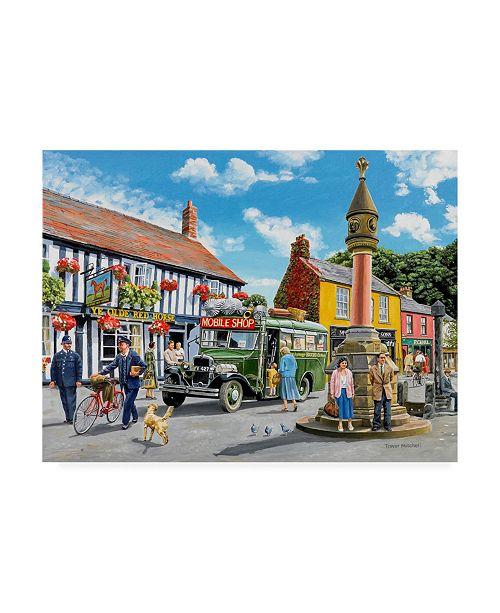 "Trademark Global Trevor Mitchell The Marketplace Canvas Art - 36.5"" x 48"""