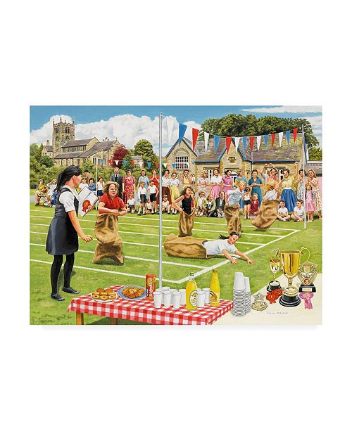 "Trademark Global Trevor Mitchell School Sports Day Canvas Art - 27"" x 33.5"""