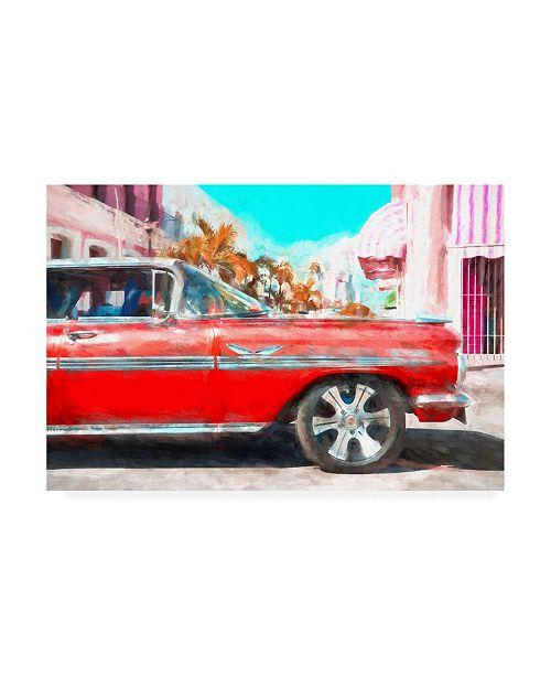 "Trademark Global Philippe Hugonnard Red Cadillac Canvas Art - 19.5"" x 26"""