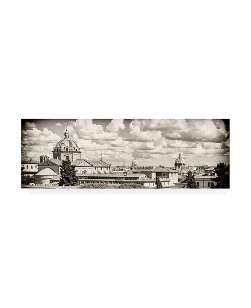 "Trademark Global Philippe Hugonnard Dolce Vita Rome 2 View of Rome V Canvas Art - 36.5"" x 48"""
