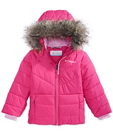 Toddler Girls Katelyn Crest Hooded Jacket With Faux-Fur Trim