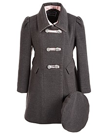 Toddler Girls Bandmaster Coat With Hat