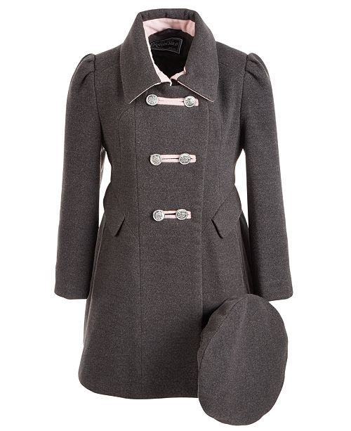 S Rothschild & CO Little Girls Bandmaster Coat With Hat