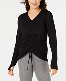 Ideology Ruched-Front Top, Created for Macy's