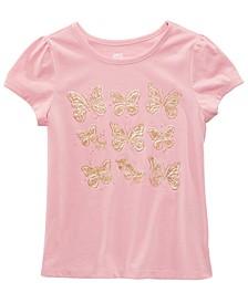 Toddler Girls Glitter Butterflies T-Shirt, Created for Macy's
