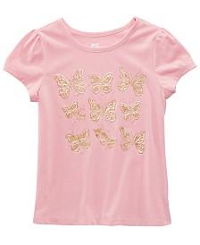 Epic Threads Little Girls Glitter Butterflies T-Shirt, Created for Macy's