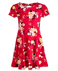 Little Girls Floral-Print Bow Back Dress, Created for Macy's