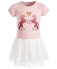 Epic Threads Little Girls Unicorn-Print Tulle Dress, Created for Macy's