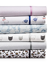 CLOSEOUT! Novelty Print Sheet Sets, 250 Thread Count 100% Cotton, Created for Macy's