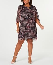 Connected Plus Size Chiffon Dress