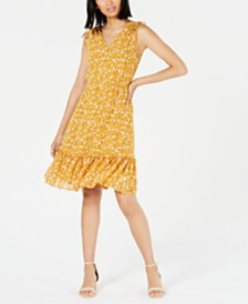 Maison Jules Ruffled Floral-Print Dress, Created for Macy's