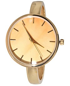 Women's Cloudy Design Dial Cuff Bracelet Watch 38mm