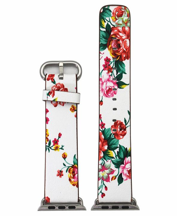 Nimitec Women's Floral Print Leather Apple Watch Strap 38mm