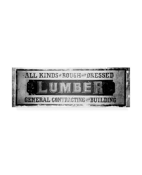 "Trademark Global Philippe Hugonnard Made in Spain 2 Lumber Sign B&W Canvas Art - 15.5"" x 21"""