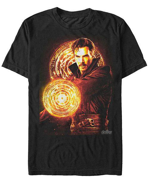 Marvel Men's Avengers Infinity War Doctor Strange Glowing Power Short Sleeve T-Shirt