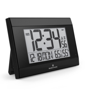 Marathon Atomic Wall Clock with Auto Back Light Feature, Calendar, Temperature, Humidity